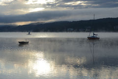 Lake Worth at sunrise Stock Image