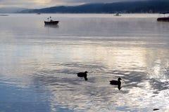 Lake Worth at sunrise Stock Images