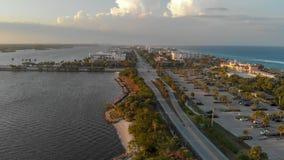 Lake Worth at sunset, panoramic aerial view, Florida Royalty Free Stock Photography
