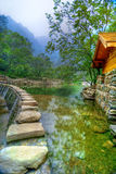 Lake at Wudang Shan Temple. Lake view at the Wudang Shan Temple in the Hubei district of China Stock Image