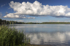 Lake Wurlsee in the eastern part of Germany Stock Images