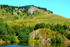 "Lake ""Taul Mare"" in  Rosia Montana, Apuseni Mountains, Transylvania Royalty Free Stock Photography"