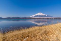 Lake Yamanaka in sunny day with Mt. Fuji, Yamanashi, Japan. Lake Yamanaka in sunny day with Mt. Fuji, Yamanashi, in Japan Stock Images