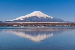 Lake Yamanaka in sunny day with Mt. Fuji, Yamanashi, Japan. Lake Yamanaka in sunny day with Mt. Fuji, Yamanashi, in Japan Stock Photos