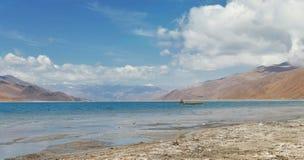 Lake Yamzho Yumco in Tibet Royalty Free Stock Image