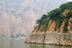 Lake Yansaj. Mountains surrounding lake Yansaj, China Royalty Free Stock Photo