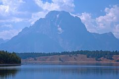 Lake Yellowstone. Which is located in the park stock image