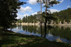 Lake in Yellowstone National Park Royalty Free Stock Photos