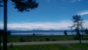 Lake Yellowstone. National park landscape Royalty Free Stock Image