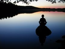Lake yoga Royalty Free Stock Photos