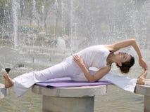 Lake yoga Stock Photos