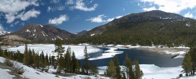 Lake in yosemite. Frozen lake in yosemite national park Stock Photography