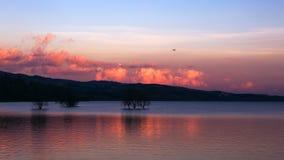 Lake  in yunnan.read lake Royalty Free Stock Images