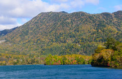 Lake Yunoko in Autumn, in Nikko, Japan Royalty Free Stock Image