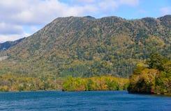 Lake Yunoko in Autumn, in Nikko, Japan Royalty Free Stock Image