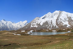 The lake in Zanskar valley (India) Royalty Free Stock Images