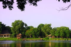 Lake in zoo. Lake in korat zoo in thailand Royalty Free Stock Photography