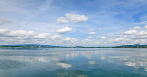 Lake Zug on a cloudy day Royalty Free Stock Photography