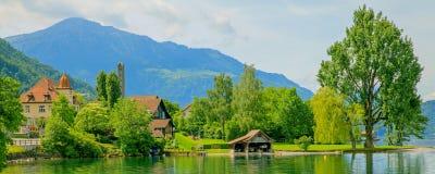 Lake Zug, HDR. Lake Zug in Switzerland, high dynamic range image after tone mapping Stock Image