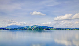 Lake Zug, HDR. Switzerland, view on Lake Zug on a cloudy day in summer, HDR image Stock Photos