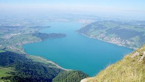 The Lake Zug from the Mount Rigi stock photo