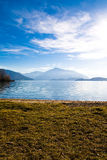 Lake Zug in Switzerland. With moutain in the background Royalty Free Stock Photos
