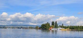 Lake Zug. Switzerland - view from Zug city Royalty Free Stock Photography
