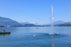 Lake Zug. Switzerland, lake Zug - view from Zug city Stock Photo