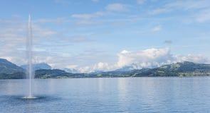 Lake Zug. Switzerland, view on the Lake Zug in summertime Stock Image