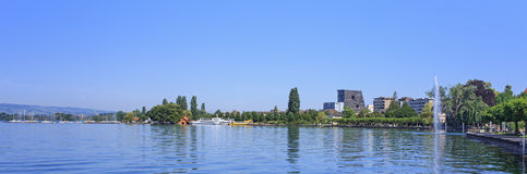 Lake Zug and Zug city Royalty Free Stock Photo