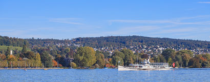 Lake Zurich. Switzerland - view from Zurich city Royalty Free Stock Photo