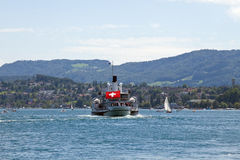 lake zurich Royaltyfri Bild