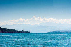 Lake Zurich with alps Stock Images