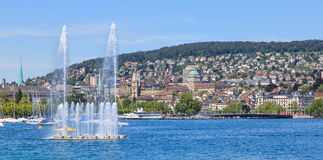 Lake Zurich And Zurich Cityscape Stock Photography