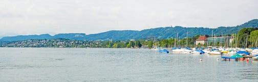 Lake Zurich panorama Royalty Free Stock Photo