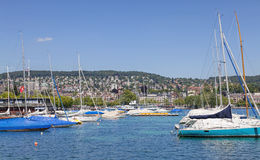 Lake Zurich in summer Stock Photo
