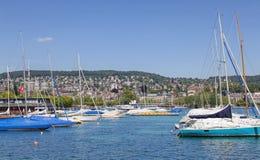 Lake Zurich in summer Stock Photo