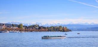 Lake Zurich. View on Lake Zurich, Switzerland Stock Photo