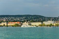 The Lake Zurich in Zurich City Stock Photo