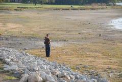 Lakebed durante la siccità Fotografia Stock Libera da Diritti