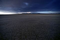 Lakebed Mojave. Dry Lakebed Mojave Desert. Dry Lake Landscape. California Photo Collection Stock Photo