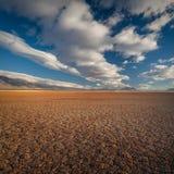 Lakebed sec d'Alvord, Orégon, Etats-Unis Photographie stock libre de droits