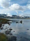 lakebergnorway sommar arkivfoton
