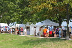 Lakefront art festival Royalty Free Stock Images