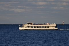 Lakefront Cruise Ship The Lila stock image