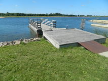Lakes Lakefront Dock In Rural America Royalty Free Stock Photography