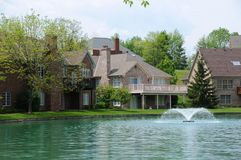 Lakefront Homes stock images