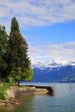 Lakefront of lake Thun Royalty Free Stock Photography
