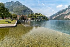 Lakefront of Malgrate located on the shores of Como Lake in the province of Lecco. Lakefront of Malgrate located on the shores of Como Lake in the province of Stock Image