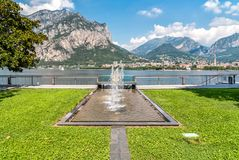 Lakefront of Malgrate located on the shores of Como Lake in the province of Lecco. Lakefront of Malgrate located on the shores of Como Lake in the province of Royalty Free Stock Photography